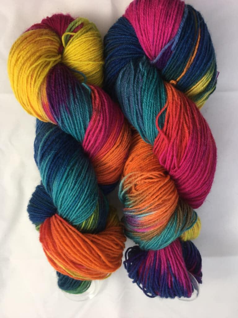 Handgefärbte Sockenwolle und mehr