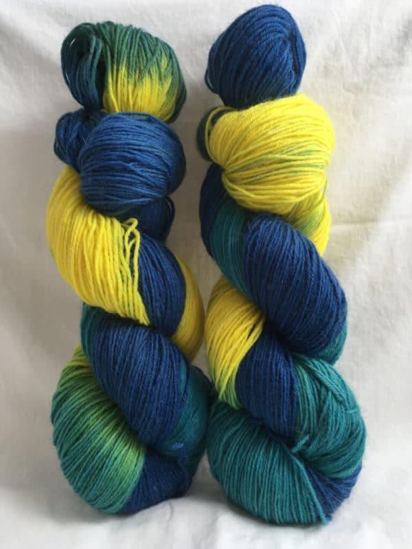 Urlaub - Handgefärbte Wolle