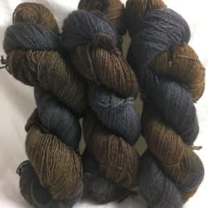 Black Forrest - Handgefärbte Twister Wolle