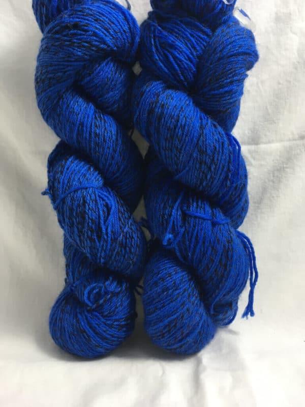 Blau - Handgefärbte Twister Wolle