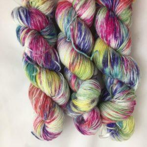 Einhorn - Handgefärbte Glitzer Wolle