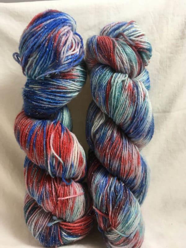 Evening Mix - Handgefärbte Glitzer Wolle