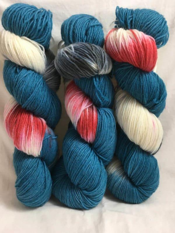 Grandiose Blau Türkis - Handgefärbte Wolle
