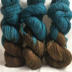 Harmonie - Handgefärbte Twister Wolle