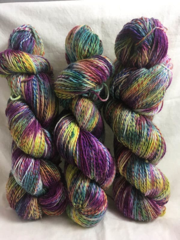 Hippie - Handgefärbte Twister Wolle