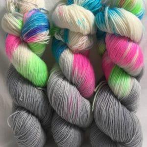Las Vegas grey - Handgefärbte Wolle