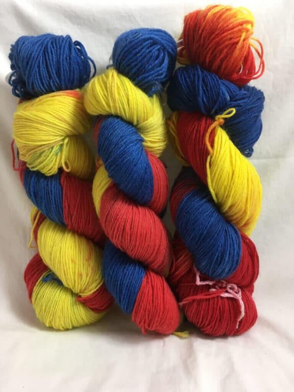 Romania - Handgefärbte Wolle
