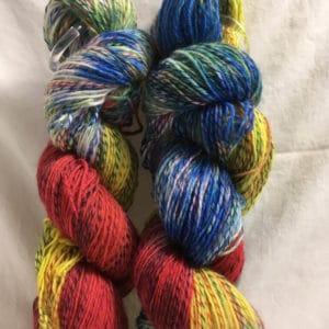 Sportlich - Handgefärbte Twister Wolle