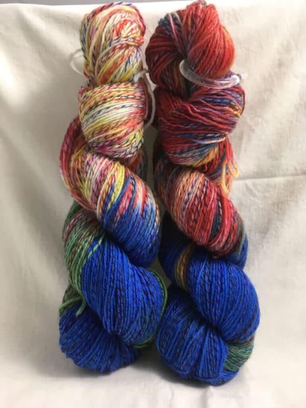 Am Sportlichsten- Handgefärbte Twister Wolle