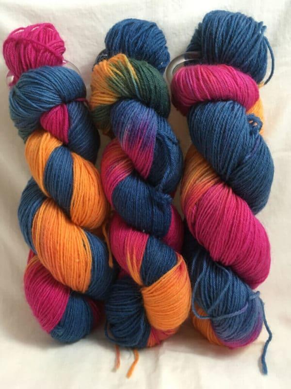 Thailand - Handgefärbte Wolle