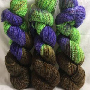 Zufriedenheit - Handgefärbte Twister Wolle