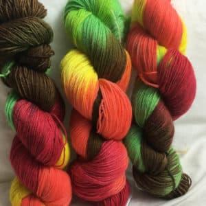 Herbstgefühl - Handgefärbte Wolle