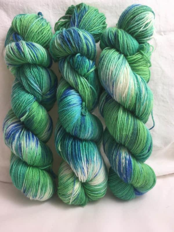 Meerjungfrau - Handgefärbte Wolle