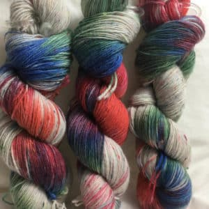 Storm - Handgefärbte Tweed Wolle