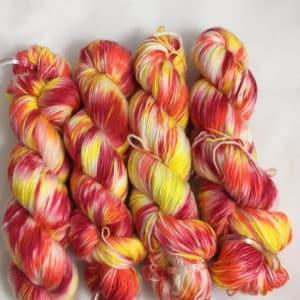 I'm on fire - Handgefärbte Merino Wolle