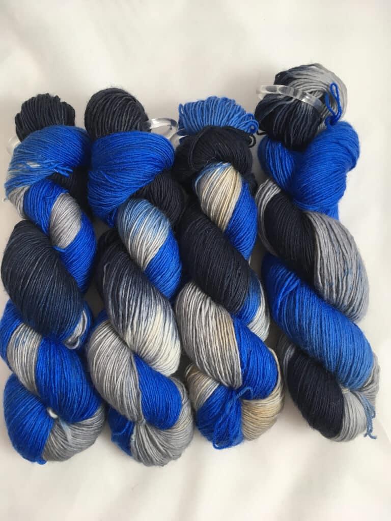 Silver Surfer - Handgefärbte Merino Wolle