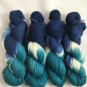 Deep Sea - Handgefärbte Merino Wolle