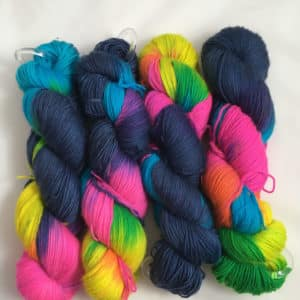 Disco Fever - Handgefärbte Merino Wolle