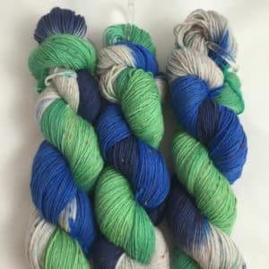 Texel - Handgefärbte Tweed Wolle