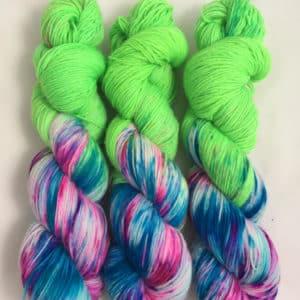 Crazy Green - handgefärbte Lanartus Wolle