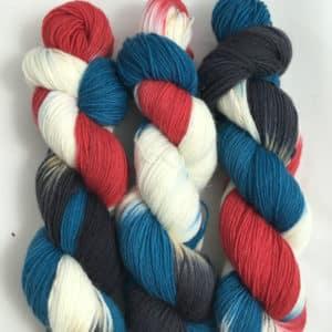 Grandioso Blau Türkis - handgefärbte Lanartus Wolle