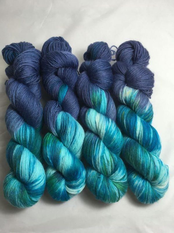 Aquaman - Handgefärbte Wolle