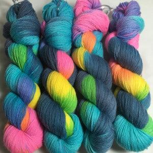 Disco Fever - Handgefärbte Wolle