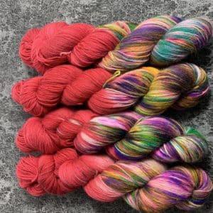 Crazy Red - Handgefärbte Wolle
