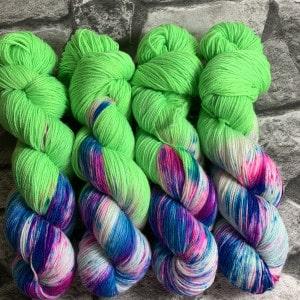 Handgefärbte Wolle Crazy Green – Classic gefärbte Wolle kaufen