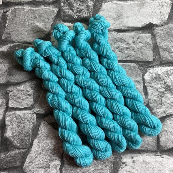 Ein Strang handgefärbte Wolle mit dem Namen Percy  –  Classic  –  Mini von Wolldackel