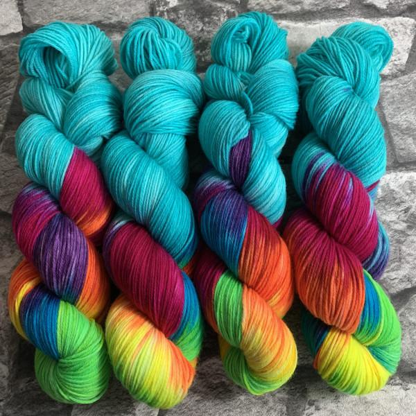 Handgefärbte Wolle Aniwaniwa Turquoise – Xtrafine gefärbte Wolle kaufen