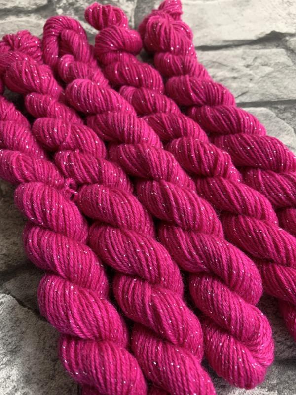 Handgefärbte Wolle Rahel – Glamour – Mini gefärbte Wolle kaufen