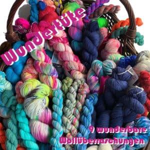 Handgefärbte Wolle Wolldackel Wundertüte gefärbte Wolle kaufen