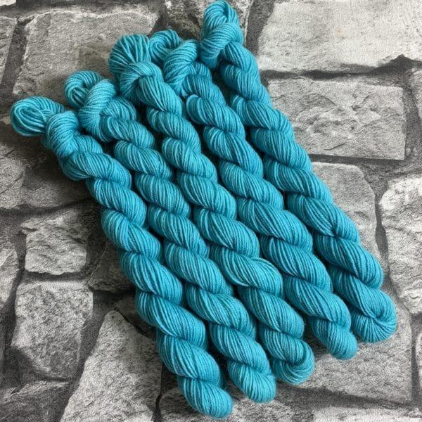 Ein Strang handgefärbte Wolle mit dem Namen Adwood –  Classic  –  Mini von Wolldackel