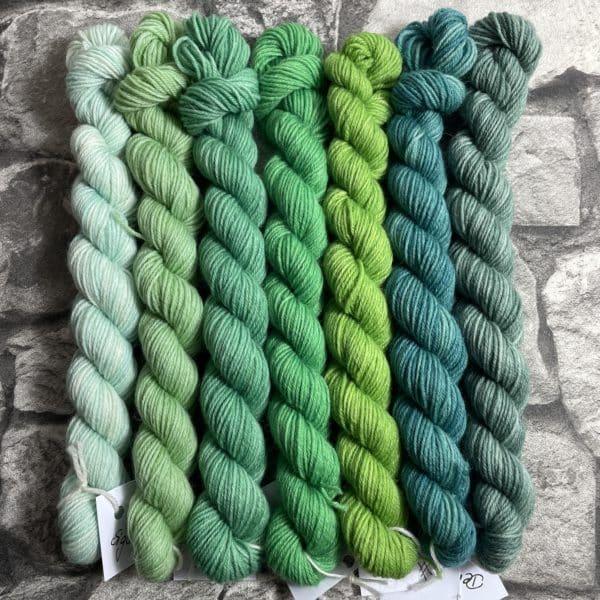 Ein Strang handgefärbte Wolle mit dem Namen Minipack – Classic  703 von Wolldackel