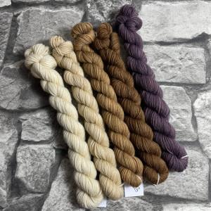 Ein Strang handgefärbte Wolle mit dem Namen Minipack – Classic 503 von Wolldackel