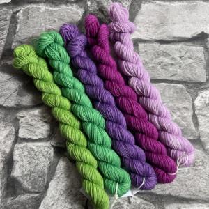Ein Strang handgefärbte Wolle mit dem Namen Minipack – Classic 505 von Wolldackel