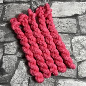 Ein Strang handgefärbte Wolle mit dem Namen Wilma-  Classic  –  Mini von Wolldackel