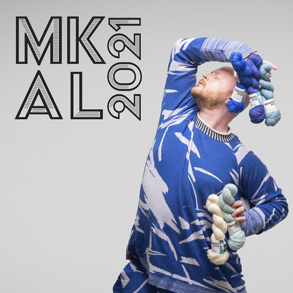 Ein Strang handgefärbte Wolle mit dem Namen Westknits MKAL21 – Kit 16 von Wolldackel